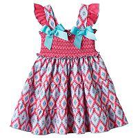 Toddler Girl Sophie Rose Smocked Tribal Dress