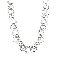Jennifer Lopez Textured Circle Link Long Necklace