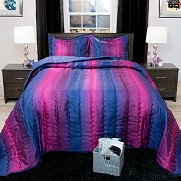 Portsmouth Home Striped Metallic Comforter Set