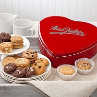 Mrs. Fields Classic Heart Valentine's Day Cookie Tin