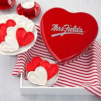 Mrs. Fields Classic Heart Frosted Valentine's Day Cookie Tin