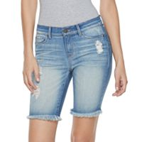 Women's Juicy Couture Flaunt It Ripped Bermuda Jean Shorts