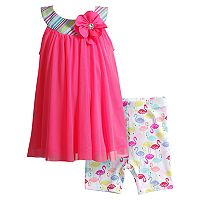 Toddler Girl Youngland Floral Knit Dress & Shorts Set
