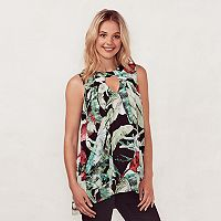 Women's LC Lauren Conrad Tropical Leaf Tunic