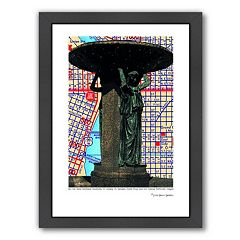 Americanflat Skidmore Fountain Portland Framed Wall Art  by