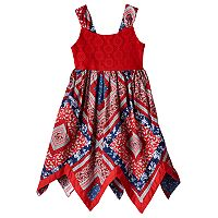 Toddler Girl Blueberi Boulevard Bandana Crochet Dress