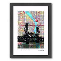 Americanflat Steel Bridge Portland Framed Wall Art