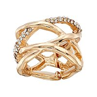 Hammered Crisscross Stretch Ring