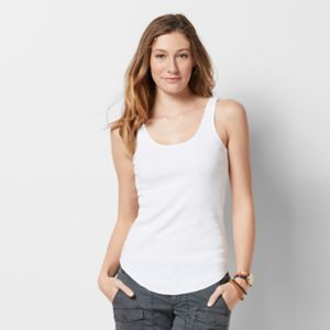 Women's SONOMA Goods for Life™ Scoopneck Ribbed Tank