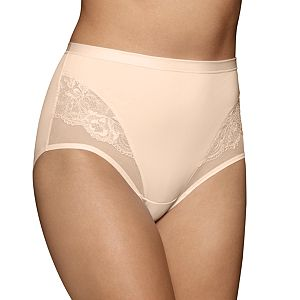 Vanity Fair Smoothing Comfort Mesh & Lace Brief Panty 13267