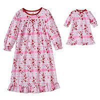 Toddler Girl & Doll The Elf on the Shelf® Clarice Nightgown Set