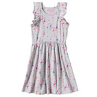 Girls 4-10 Jumping Beans® Flutter Sleeves Print Dress