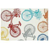 Kaleen Sea Isle Bicycle Rug