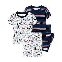 Toddler Boy Carter's Graphic Tee, Print Tee, Graphic Shorts & Printed Pants Pajama Set