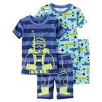 Toddler Boy Carter's Graphic & Print 4-pc. Pajama Set