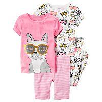 Baby Girl Carter's Print & Graphic 4-pc. Pajama Set