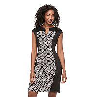Women's Connected Apparel Colorblock Sheath Dress