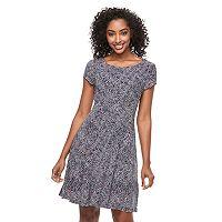 Women's Connected Apparel Print Shift Dress
