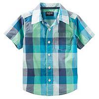 Toddler Boy OshKosh B'gosh® Buffalo Check Short-Sleeved Button-Front Shirt