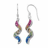 Confetti Crystal Corkscrew Drop Earrings