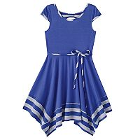 Girls 7-16 Lilt Bow Back Tie Waist Dress