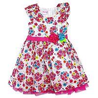 Toddler Girl Nannette Swiss Dot Floral Dress