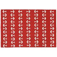 Trans Ocean Imports Liora Manne Front Porch Capri Anchor Indoor Outdoor Rug