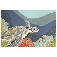 Trans Ocean Imports Liora Manne Front Porch Ravella Akumal Turtle Indoor Outdoor Rug