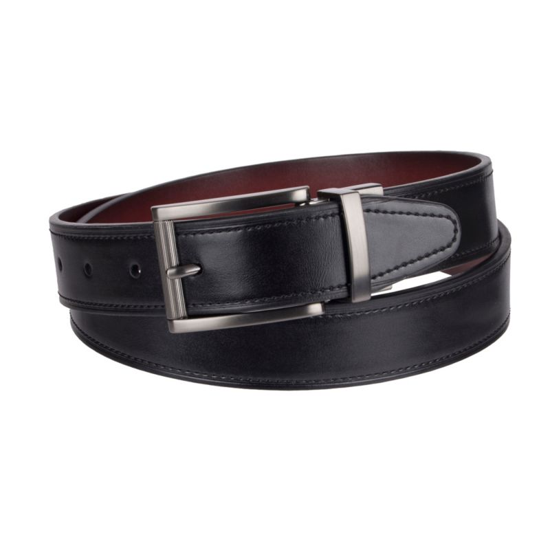 Men's Dockers Reversible Cut-Edge Belt, Size: 36, Grey (Charcoal) thumbnail