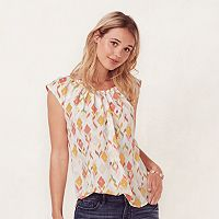 Women's LC Lauren Conrad Pleat Neck Tee