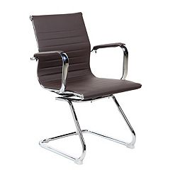 Techni Mobili Modern Faux-Leather Office Visitor Chair by