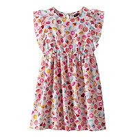 Girls 4-6x Emerald Sundae Emoji Flutter Sleeve Dress
