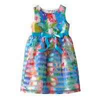 Girls 4-6x Emerald Sundae Organza Burnout Floral Dress
