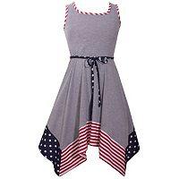 Girls 4-6x Bonnie Jean Americana Knit Sundress