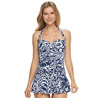 Women's Chaps Tummy Slimmer Swimdress