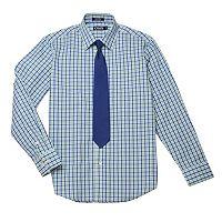 Boys 8-20 Chaps Plaid Shirt & Tie Set