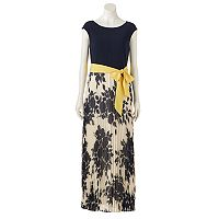 Women's Jessica Howard Pleated Floral Maxi Dress