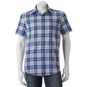 Men's SONOMA Goods for Life™ Flexwear Modern-Fit Plaid Stretch Button-Down Shirt