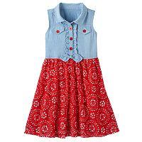 Girls 4-6x Nanette Chambray Tie-Front Dress