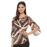 Women's Dana Buchman Textured Keyhole Top