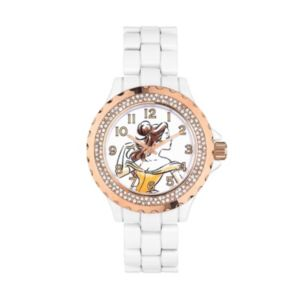 Disney's Beauty and the Beast Sketched Belle Women's Crystal Watch