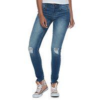 Juniors' Mudd® FLX Stretch Ripped Skinny Jeans