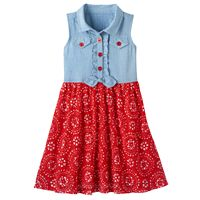 Toddler Girl Nanette Chambray Tie-Front Dress