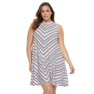 Plus Size SONOMA Goods for Life™ High Neck Trapeze Dress
