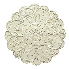 Stratton Home Decor Shabby Medallion Wall Decor by