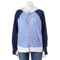 Juniors' Plus Size SO® Colorblock Hoodie