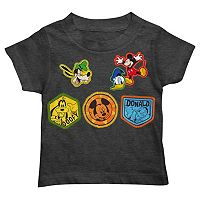 Disney's Mickey Mouse, Goofy & Donald Duck Toddler Boy Patch Tee