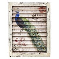 nearly natural Peacock Window Shutter Wall Decor