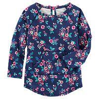 Girls 4-8 OshKosh B'gosh® Floral French Terry Pullover