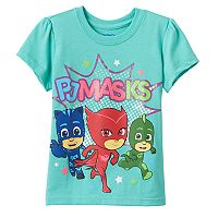 Toddler Girl PJ Masks Owlette, Catboy & Gekko Graphic Tee